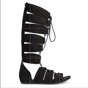 H&M Gladiator Sandals Open Black 6  37